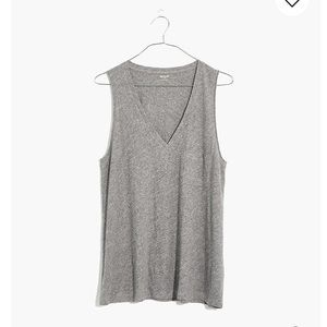 Madewell Gray Pocket Tank